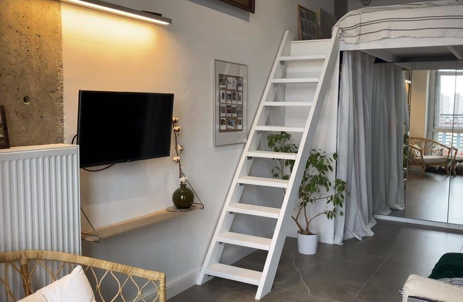 Фотография: Гостиная в стиле Скандинавский, Квартира, Студия, до 40 метров – фото на INMYROOM