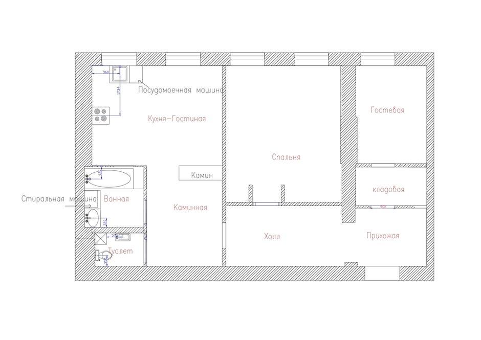 Фотография: Планировки в стиле , Квартира, Проект недели, Москва, Кирпичный дом, 2 комнаты – фото на INMYROOM