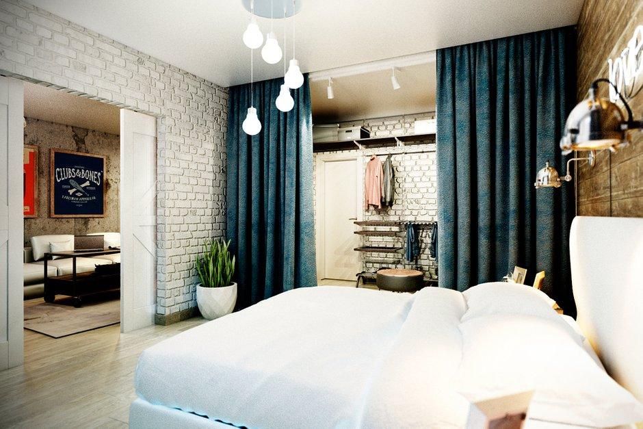 Фотография: Спальня в стиле Лофт, Квартира, Дома и квартиры, Проект недели – фото на INMYROOM