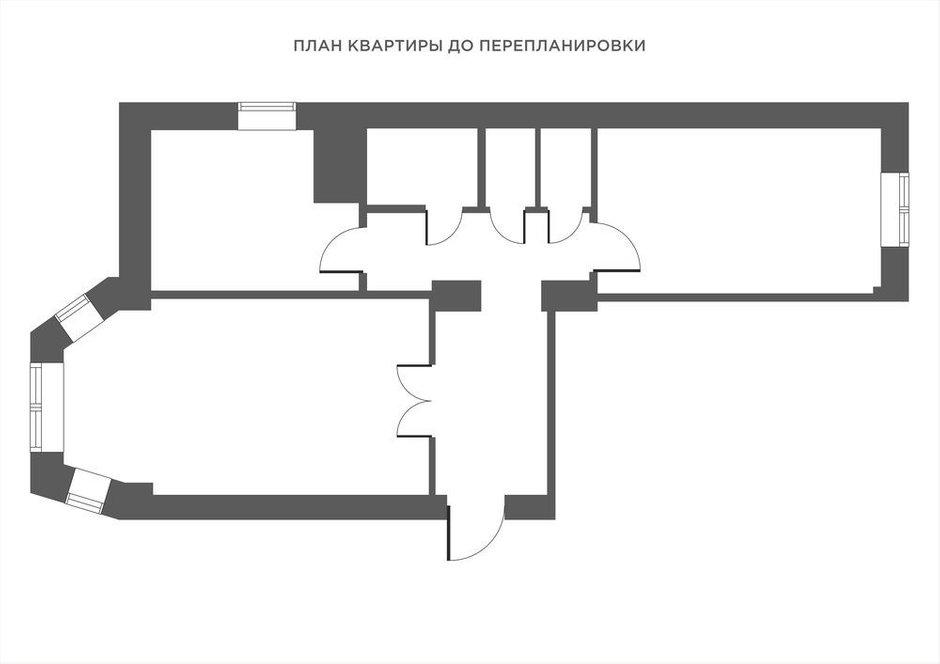 Фотография: Планировки в стиле , Эклектика, Квартира, Проект недели, Минск, Сталинка, 2 комнаты, 60-90 метров, Алена Ерашевич – фото на INMYROOM