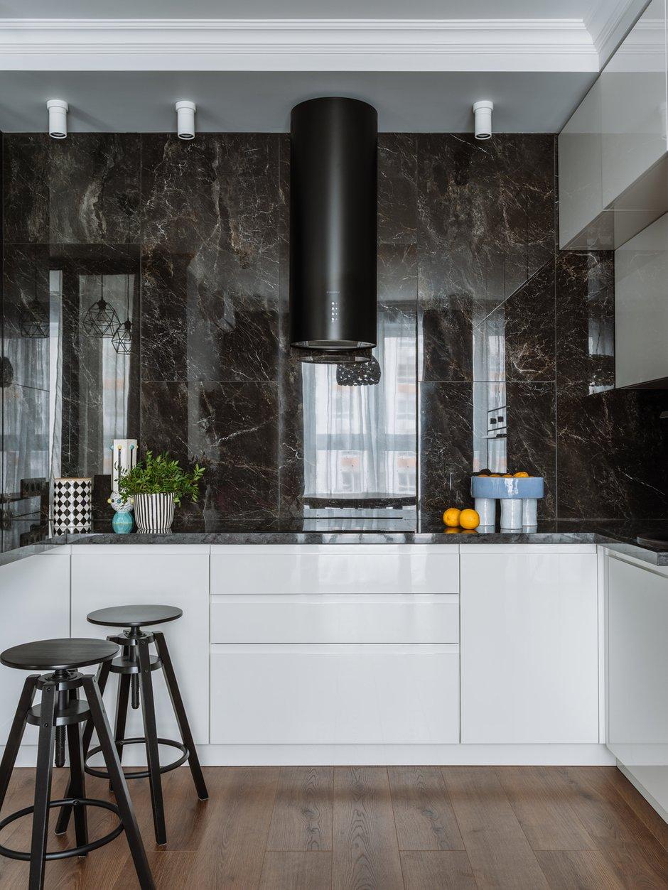 Фотография: Кухня и столовая в стиле Современный, Квартира, Проект недели, 2 комнаты, 60-90 метров, Люберцы, Евгения Пестова – фото на INMYROOM