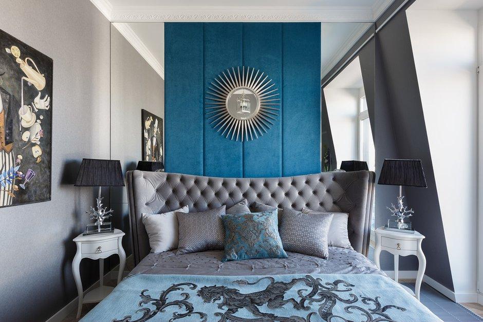 Фотография: Спальня в стиле Классический, Современный, Эклектика, Квартира, Проект недели, Санкт-Петербург, 2 комнаты, 60-90 метров, Инна Азорская – фото на INMYROOM