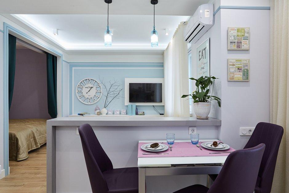 Фотография: Кухня и столовая в стиле Современный, Квартира, Проект недели, Москва, Монолитный дом, 1 комната, 40-60 метров, Алла Апалкова – фото на INMYROOM
