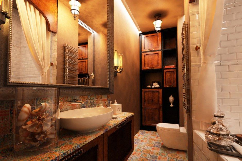 Фотография: Ванная в стиле Эклектика, Лофт, Квартира, Дома и квартиры – фото на INMYROOM