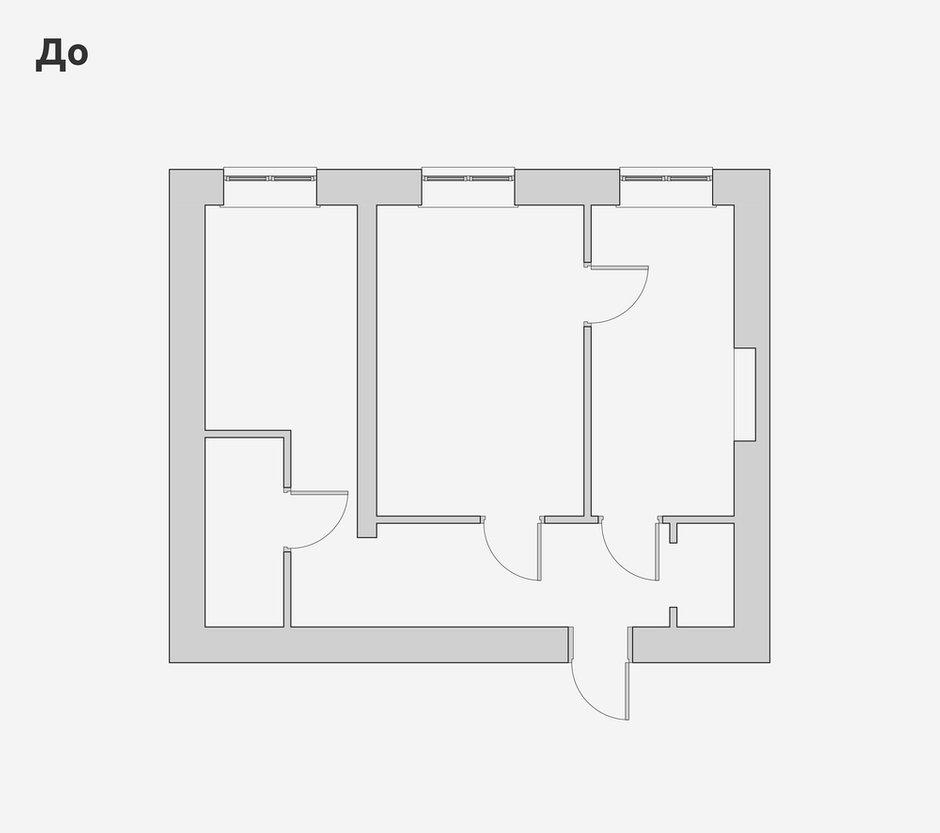 Фотография: Планировки в стиле , Лофт, Квартира, Проект недели, Санкт-Петербург, Кирпичный дом, 2 комнаты, 40-60 метров, Bobo.space – фото на INMYROOM