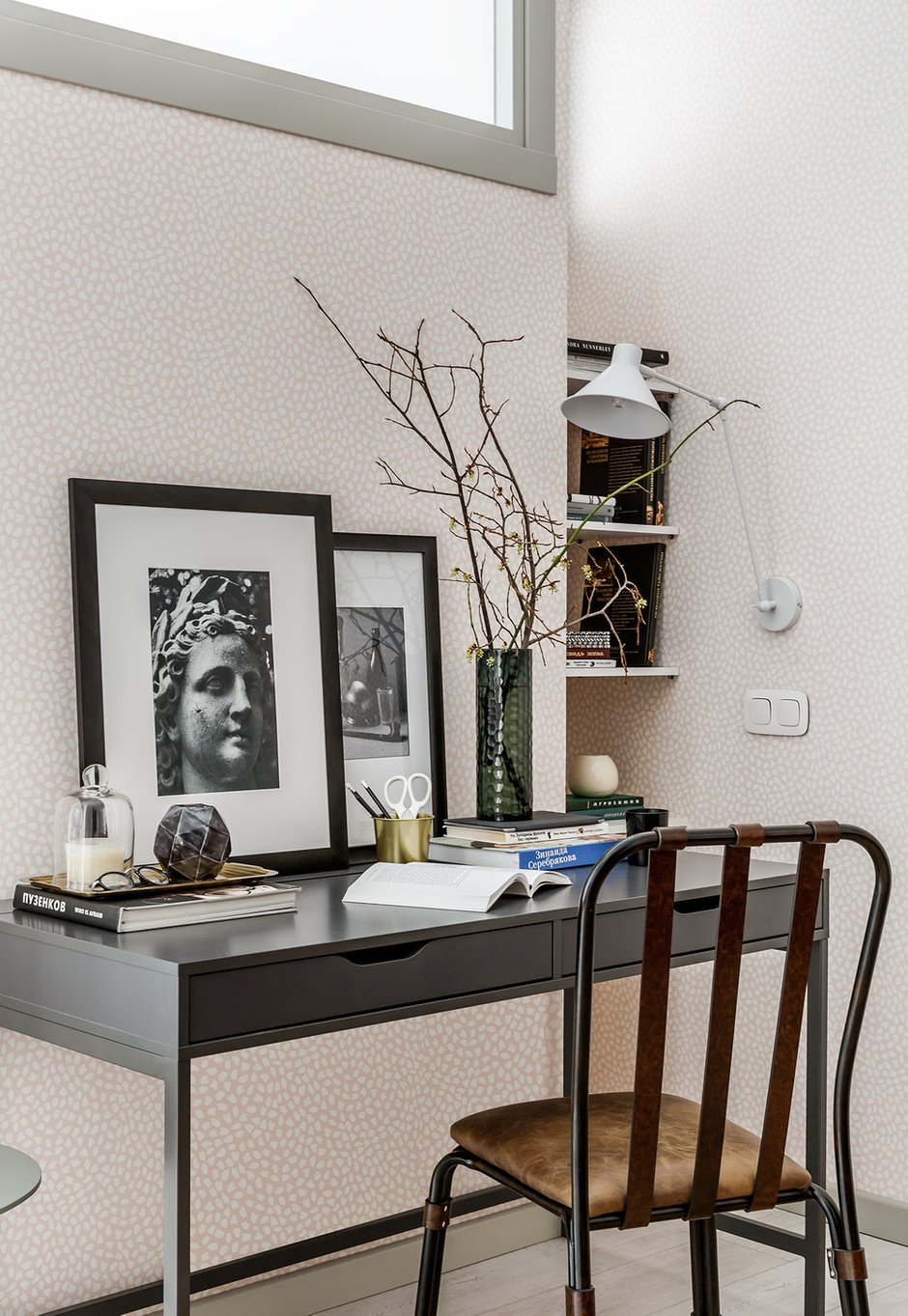 Фотография: Кабинет в стиле Современный, Квартира, Проект недели, Москва, Монолитный дом, 2 комнаты, 40-60 метров, Мария Безрукова – фото на INMYROOM