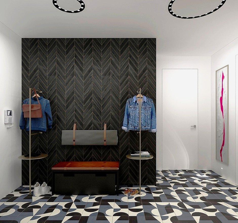 Фотография: Прихожая в стиле Современный, Квартира, Проект недели, Москва, Виктория Золина, 2 комнаты, 60-90 метров, Монолитно-кирпичный – фото на INMYROOM