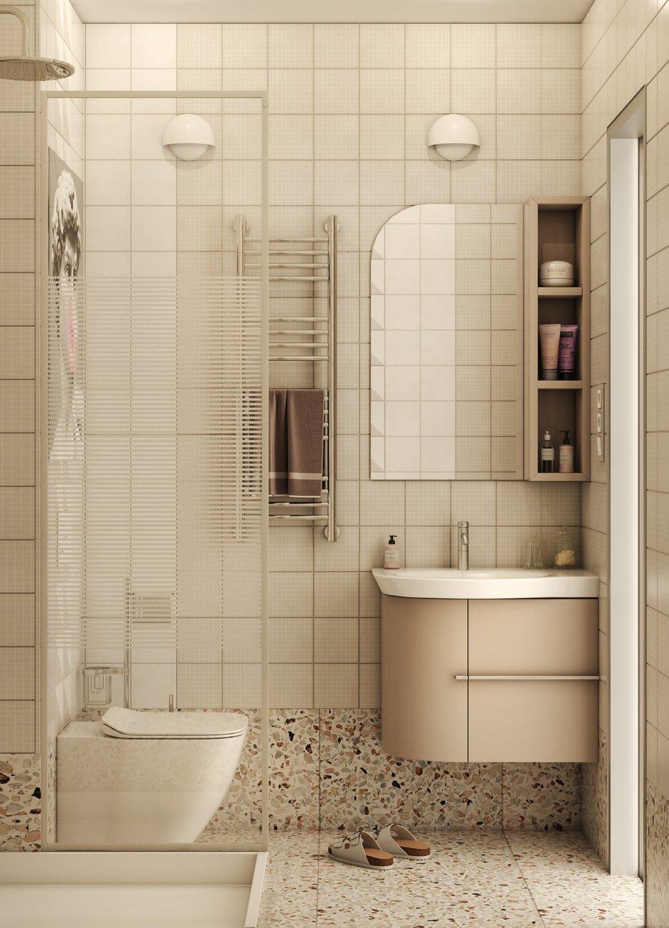 Фотография: Ванная в стиле Современный, Малогабаритная квартира, Квартира, Студия, Проект недели, Москва, до 40 метров, Ольга Катюк – фото на INMYROOM