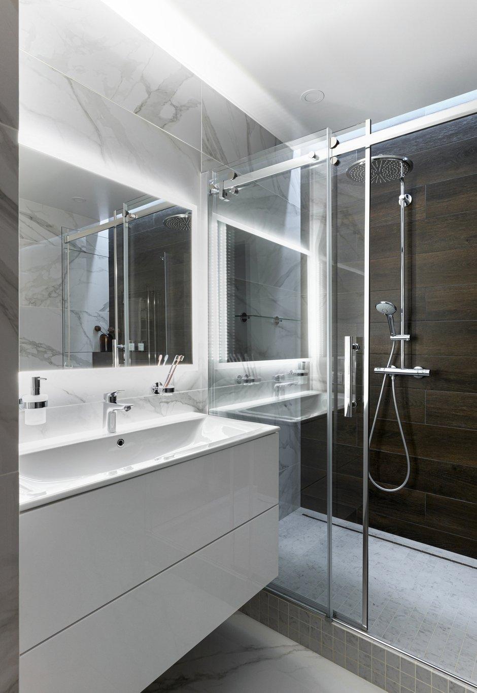 Фотография: Ванная в стиле Современный, Квартира, Студия, Проект недели, Реутов, 40-60 метров, Elements, ПРЕМИЯ INMYROOM – фото на INMYROOM
