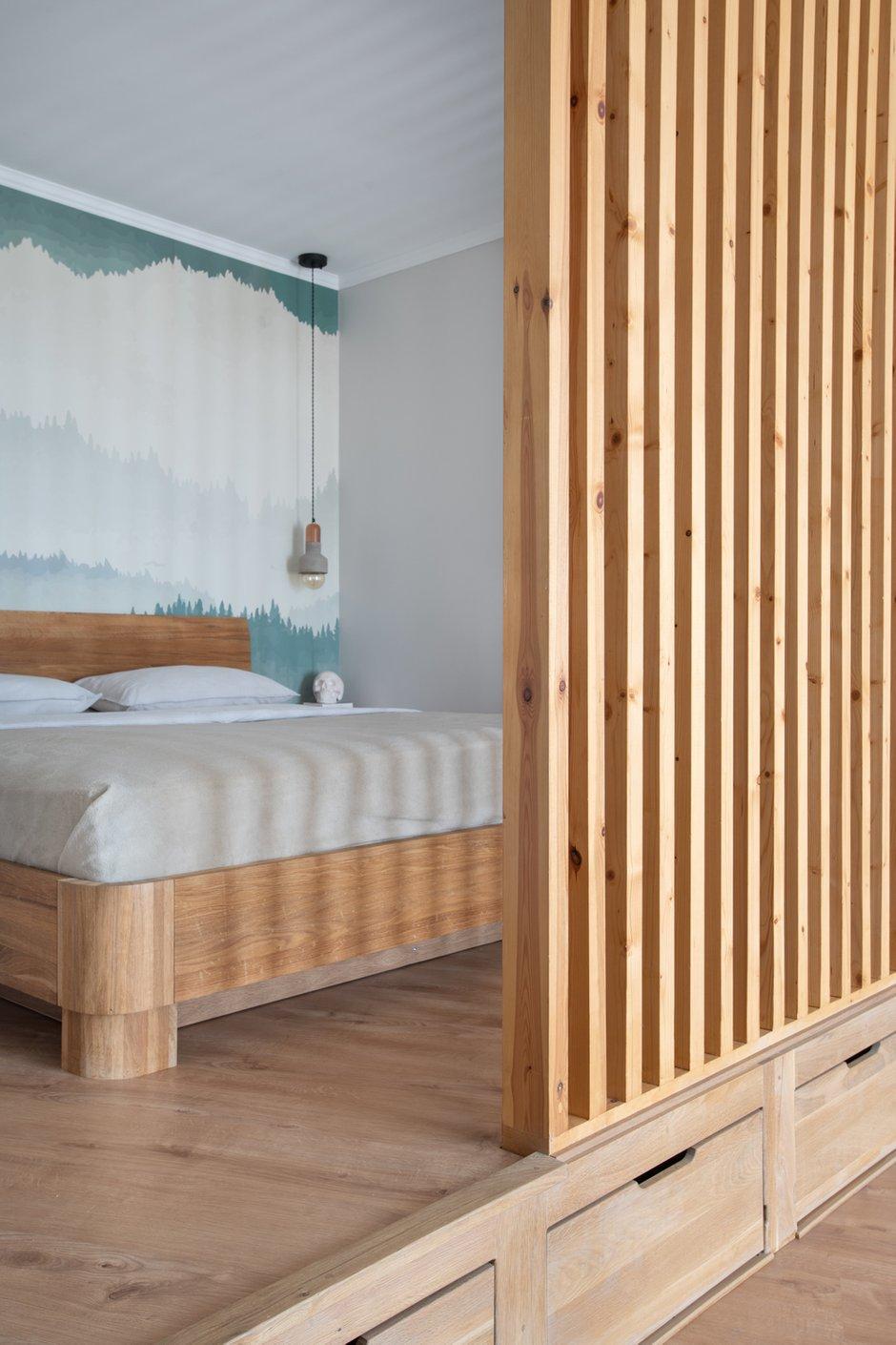 Фотография: Спальня в стиле Современный, Лофт, Квартира, Студия, Проект недели, Мытищи, 40-60 метров, Влада Загайнова – фото на INMYROOM