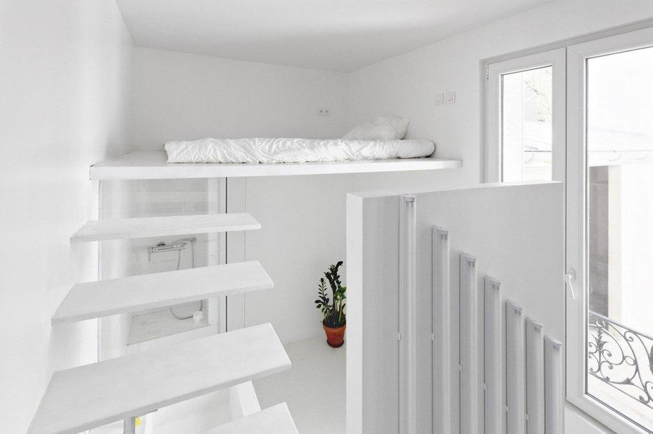 Фотография: Спальня в стиле Современный, Малогабаритная квартира, Квартира, Дома и квартиры, Париж – фото на INMYROOM