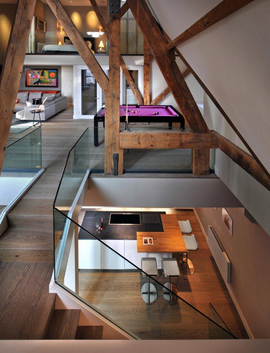 Фотография:  в стиле Современный, Квартира, Flos, Дома и квартиры, Лондон, Лестница, Библиотека, Готический – фото на INMYROOM