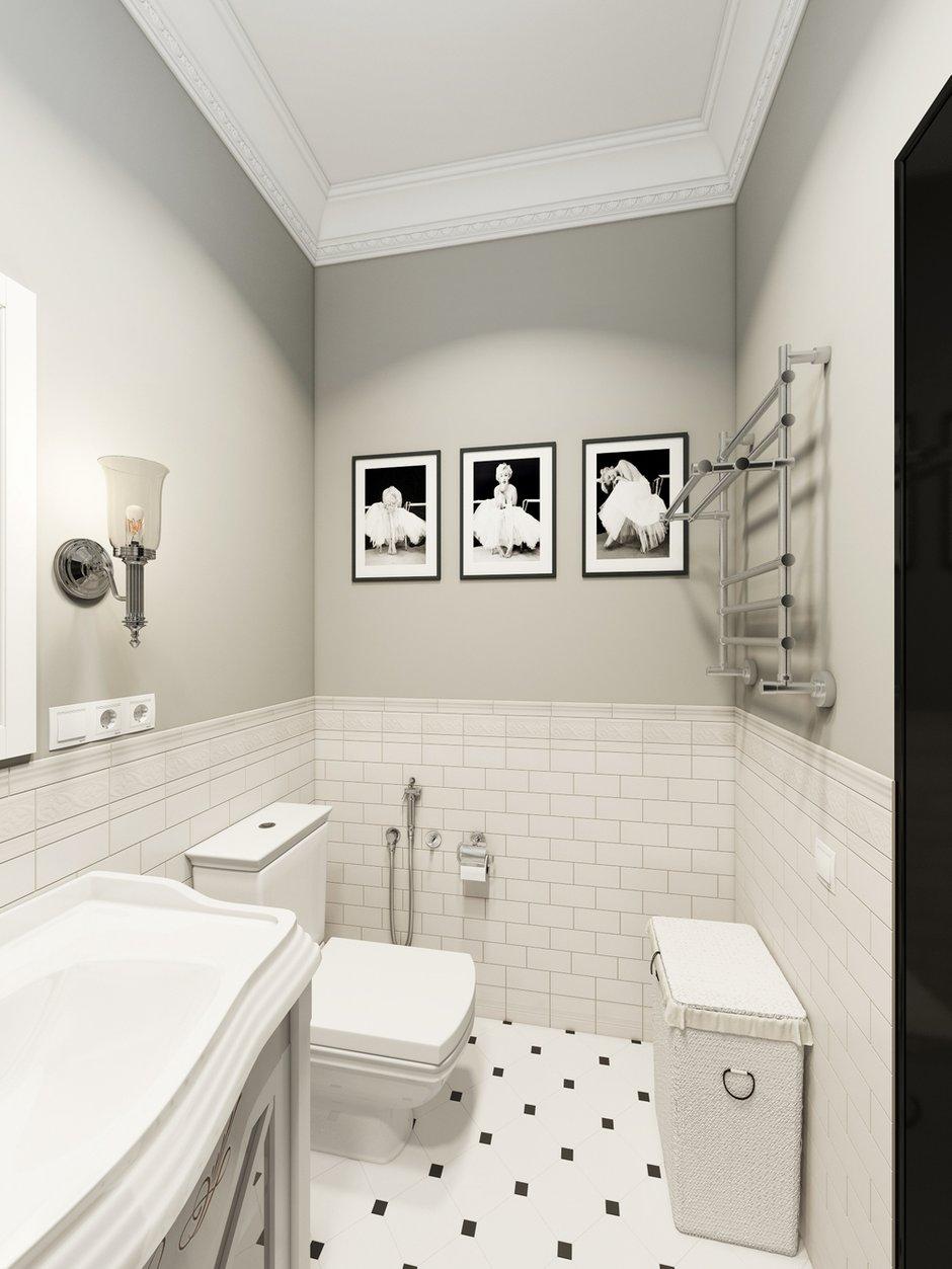 Фотография: Ванная в стиле Классический, Проект недели, Москва, Светлана Старцева, 3 комнаты, Более 90 метров – фото на INMYROOM