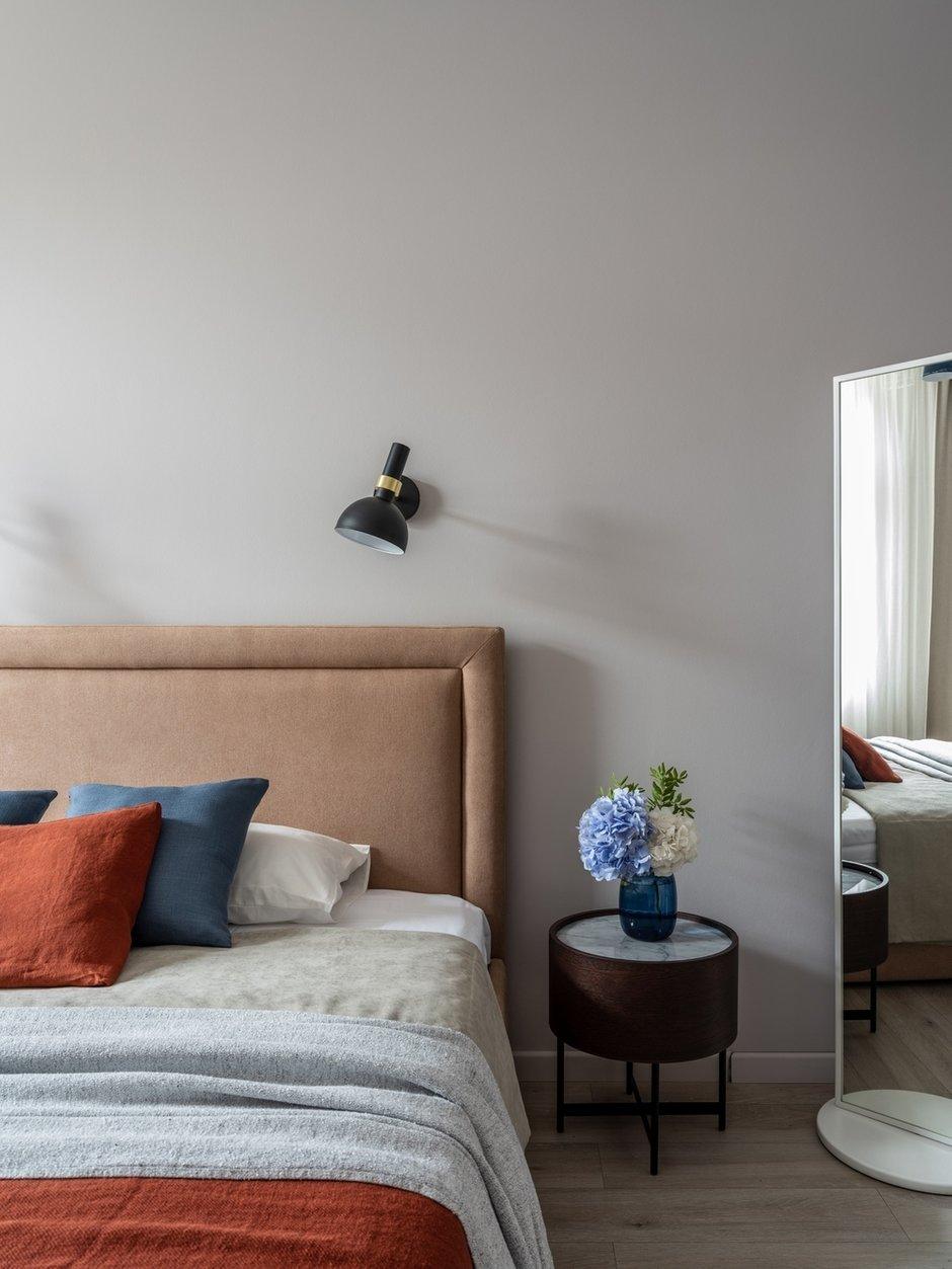Фотография: Спальня в стиле Современный, Квартира, Проект недели, Санкт-Петербург, 3 комнаты, Более 90 метров, Светлана Оленбург – фото на INMYROOM