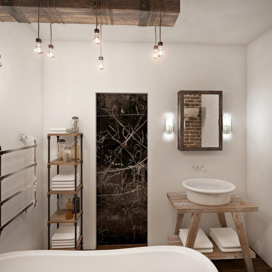 Фотография: Ванная в стиле Современный, Лофт, Квартира, Дома и квартиры, Проект недели, Перепланировка, Переделка, КТ – фото на INMYROOM
