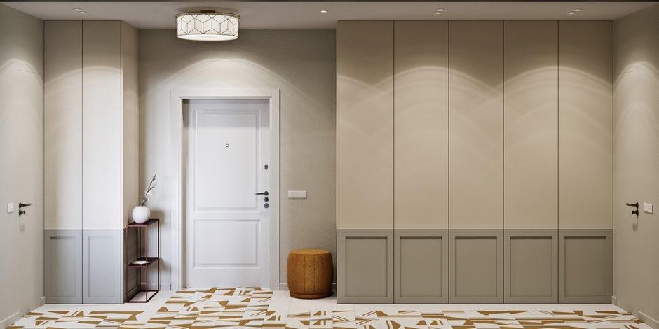 Фотография: Прихожая в стиле Современный, Квартира, Проект недели, Москва, Монолитный дом, 2 комнаты, 60-90 метров, Бюро «Общая Площадь» – фото на INMYROOM