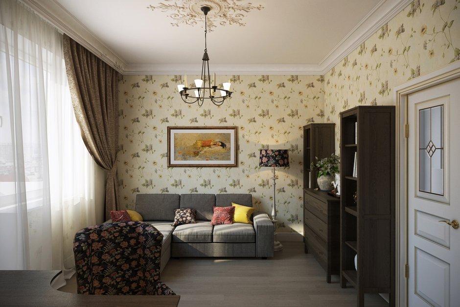 Фотография: Гостиная в стиле Прованс и Кантри, Квартира, Дома и квартиры, IKEA, Проект недели, Москва – фото на INMYROOM