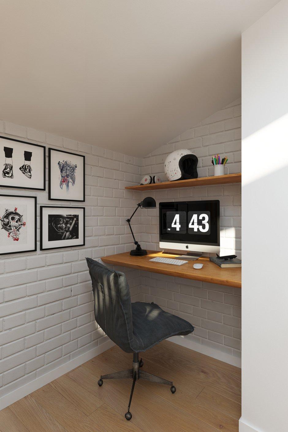 Фотография: Кабинет в стиле Скандинавский, Квартира, Проект недели, Химки, Geometrium, ЖК «Город Набережных» – фото на INMYROOM