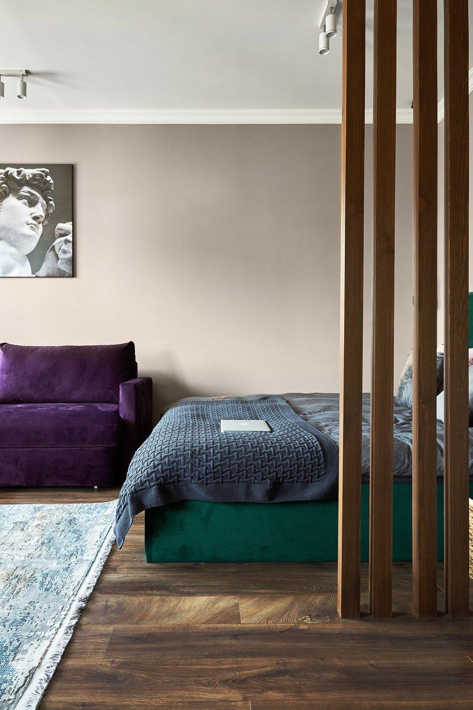Фотография: Спальня в стиле Современный, Малогабаритная квартира, Квартира, Студия, Проект недели, Москва, до 40 метров, Мария Григорьева – фото на INMYROOM
