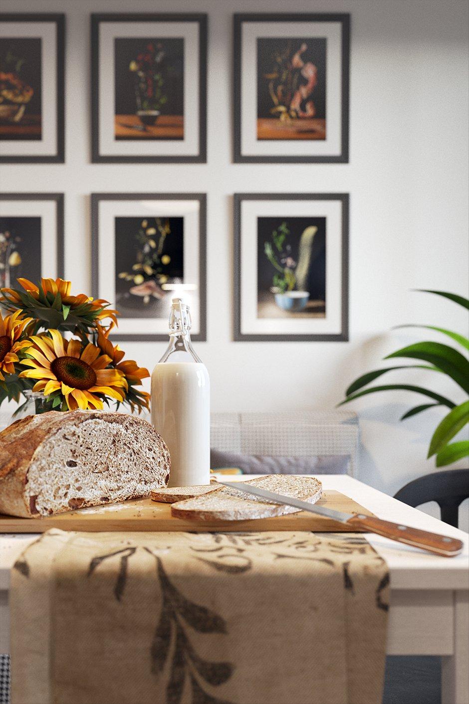 Фотография:  в стиле , Скандинавский, Квартира, Проект недели, Смоленск, Кирпичный дом, 1 комната, 40-60 метров, Анна Багрова – фото на INMYROOM