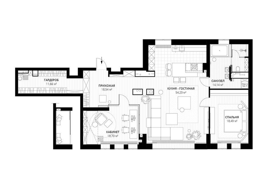Фотография: Планировки в стиле , Лофт, Квартира, Проект недели, Москва, 3 комнаты, Более 90 метров – фото на INMYROOM