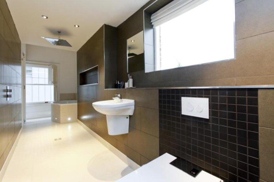Фотография: Ванная в стиле Современный, Эклектика, Дом, Цвет в интерьере, Дома и квартиры, Белый, Лондон – фото на INMYROOM