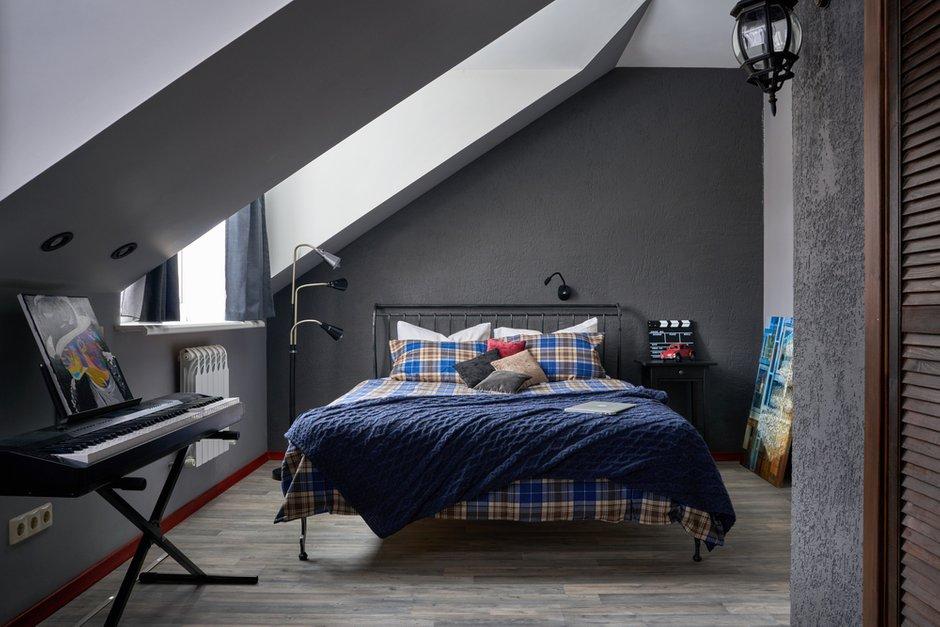 Фотография: Спальня в стиле Современный, Дом и дача, Химки, Таунхаус, Оксана Цымбалова, 4 и больше, Более 90 метров – фото на INMYROOM