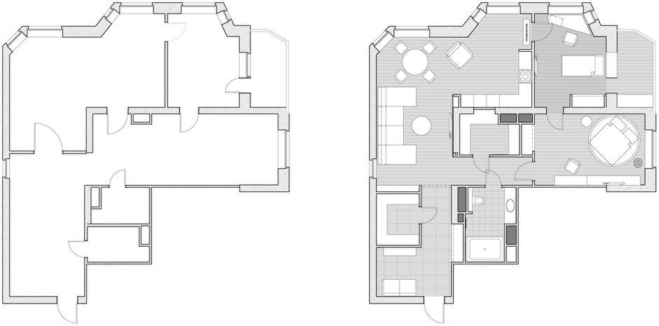 Фотография: Прочее в стиле , Квартира, BoConcept, Дома и квартиры, Проект недели, Москва, Dulux – фото на INMYROOM