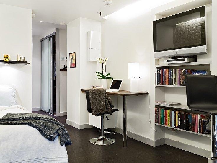 Фотография: Офис в стиле Скандинавский, Современный, Малогабаритная квартира, Квартира, Швеция, Дома и квартиры – фото на INMYROOM
