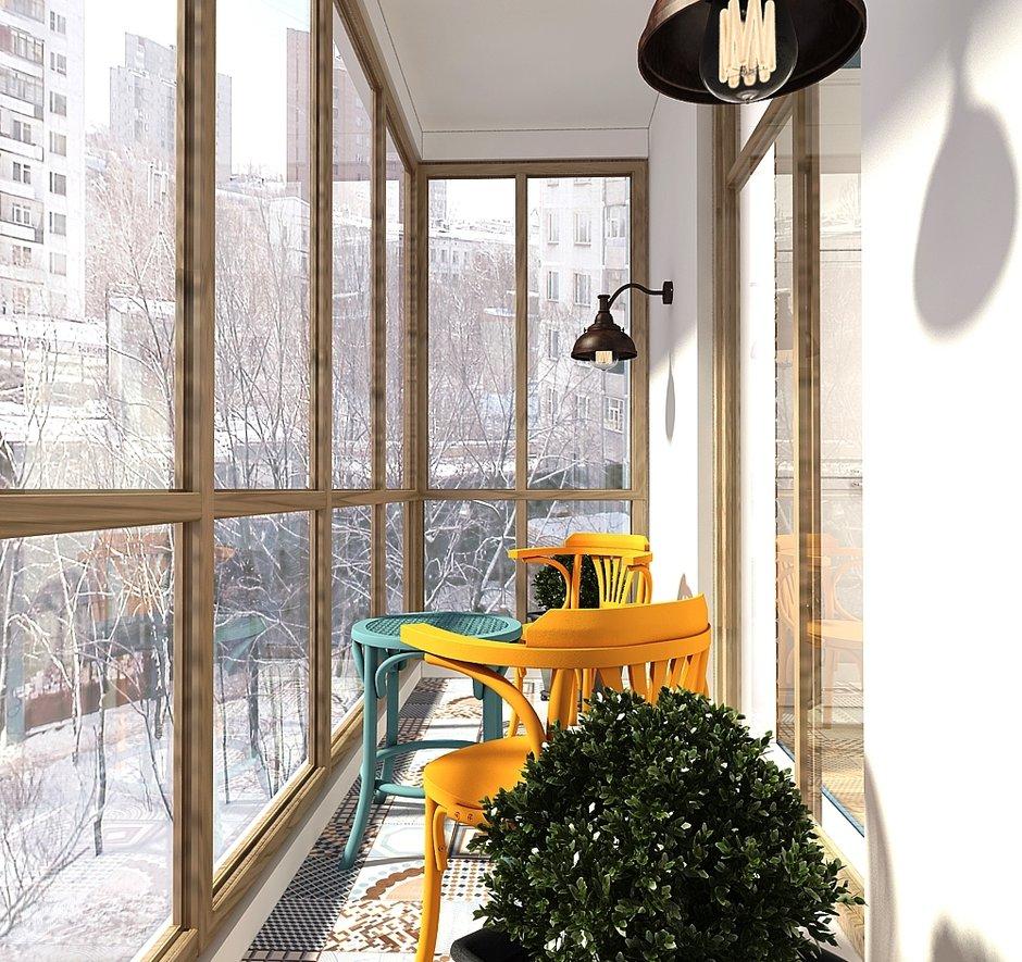 Фотография: Балкон в стиле Скандинавский, Квартира, Проект недели, Zi-Design Interiors – фото на INMYROOM