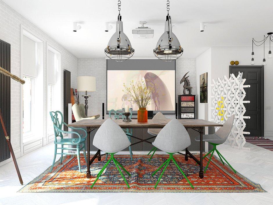 Фотография: Кухня и столовая в стиле Лофт, Декор интерьера, Квартира, BoConcept, Eichholtz, Дома и квартиры, IKEA, Проект недели – фото на INMYROOM