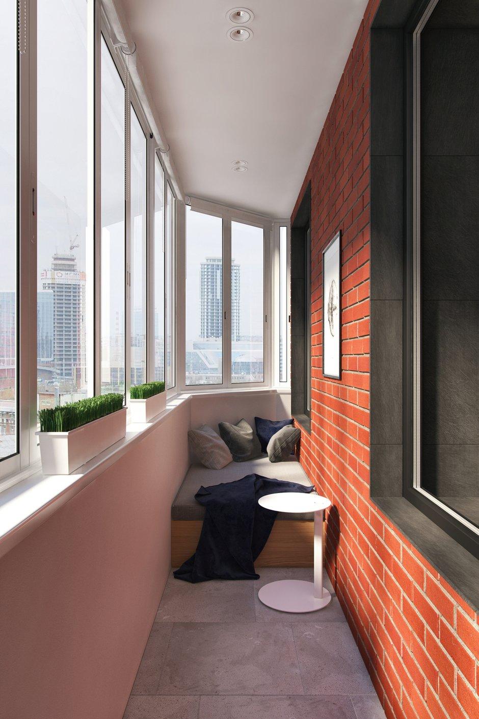 Фотография: Балкон в стиле Современный, Квартира, Проект недели, Москва, Geometrium, 3 комнаты, Более 90 метров, Монолитно-кирпичный, ЖК «Александр» – фото на InMyRoom.ru