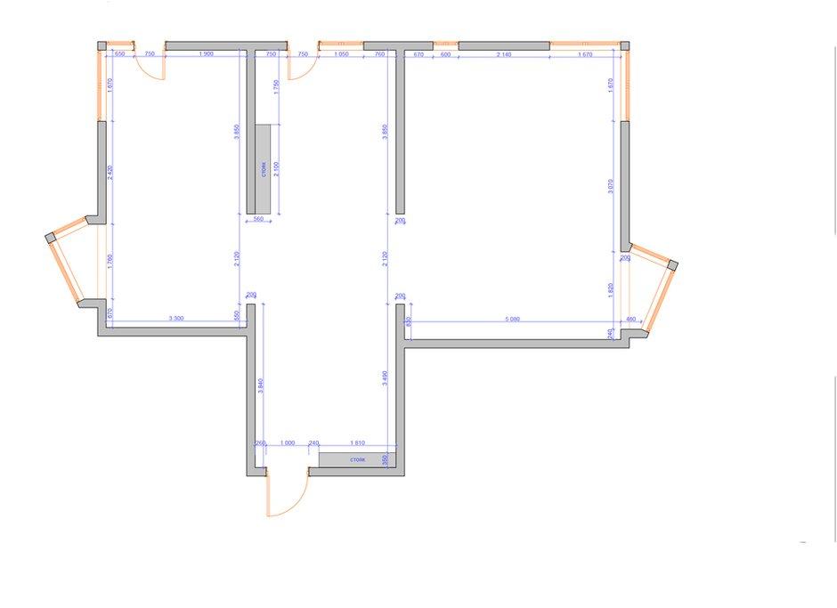 Фотография: Планировки в стиле , Квартира, Проект недели, Химки, Инна Величко, 3 комнаты, 60-90 метров – фото на INMYROOM