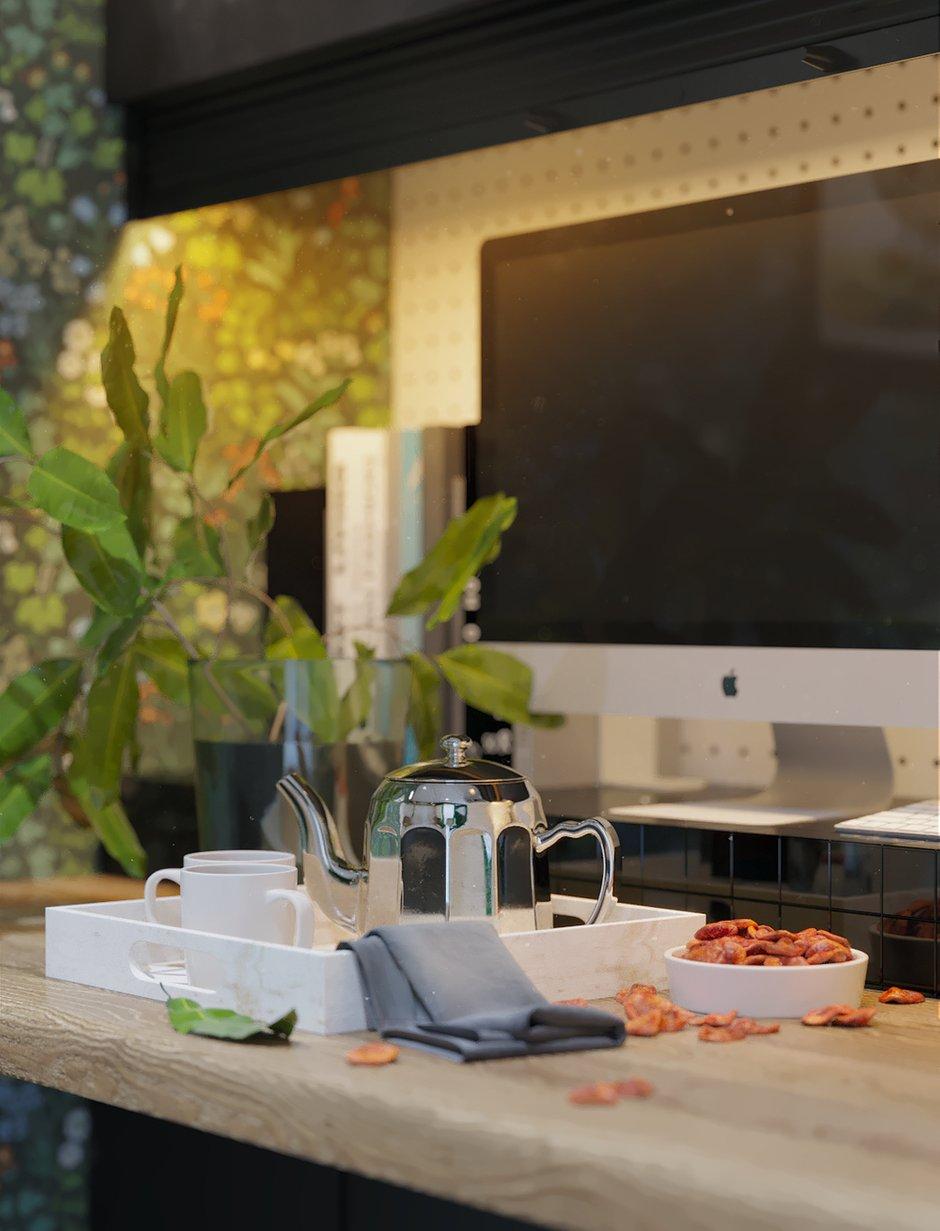 Фотография: Кухня и столовая в стиле Скандинавский, Квартира, Проект недели, Московская область, 1 комната, до 40 метров, Ира Носова – фото на INMYROOM