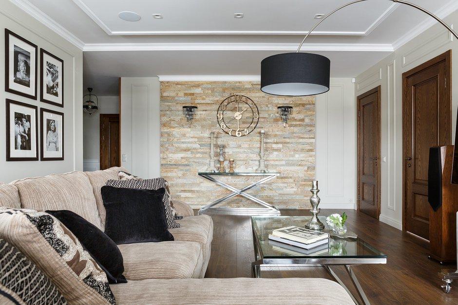 Фотография: Гостиная в стиле Классический, Современный, Квартира, Проект недели, Санкт-Петербург, Монолитный дом, 4 и больше, Более 90 метров, Дизайн-Холл – фото на INMYROOM