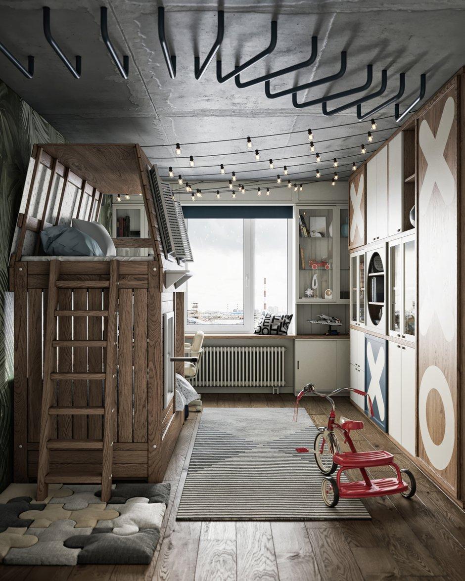 Фотография: Детская в стиле Лофт, Эклектика, Квартира, Проект недели, Санкт-Петербург, ToTaste Studio, 3 комнаты, 60-90 метров, Более 90 метров – фото на INMYROOM