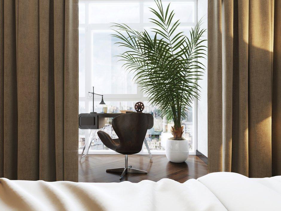 Фотография: Кабинет в стиле Лофт, Квартира, Проект недели, Монолитный дом, 2 комнаты, 40-60 метров, ЖК «Маяк» – фото на INMYROOM