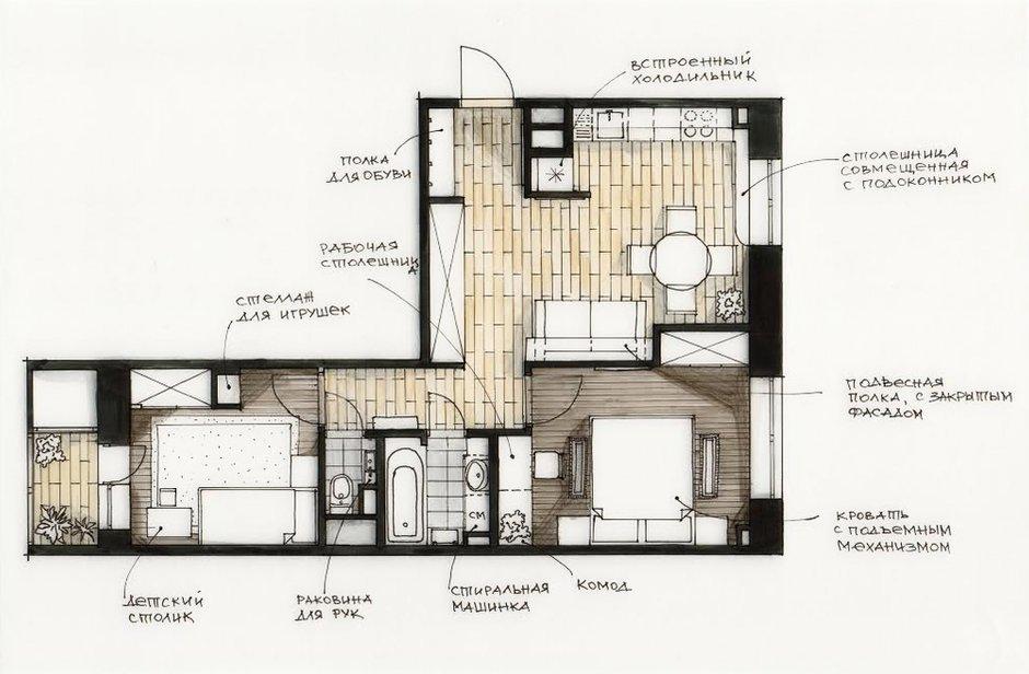 Фотография: Планировки в стиле , Квартира, Проект недели, Светлана Старцева – фото на INMYROOM