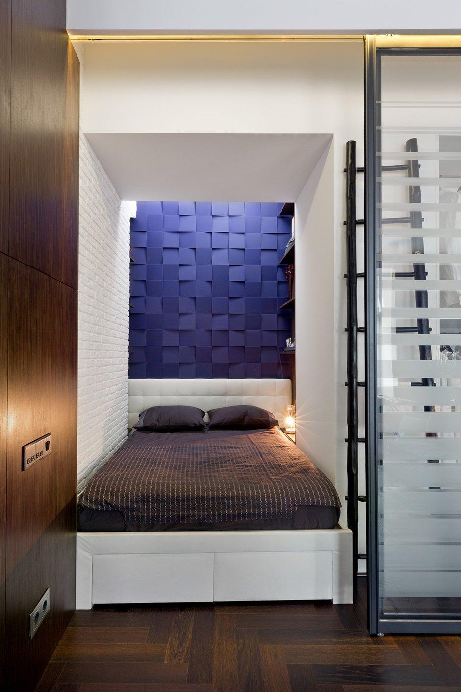 Фотография: Спальня в стиле Современный, Малогабаритная квартира, Квартира, Дома и квартиры, Перепланировка – фото на INMYROOM