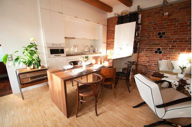 Фотография: Гостиная в стиле Лофт, Квартира, Дома и квартиры, Переделка – фото на INMYROOM
