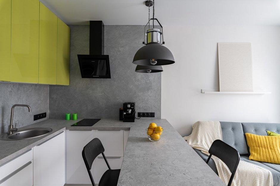 Фотография: Кухня и столовая в стиле Современный, Квартира, Минимализм, Проект недели, Балашиха, 1 комната, 40-60 метров, Марина Гри – фото на INMYROOM