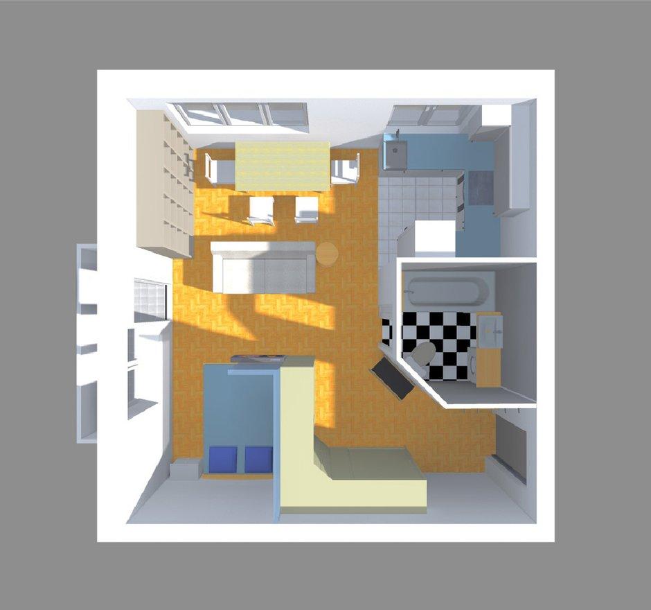 Фотография: Прихожая в стиле Современный, Малогабаритная квартира, Квартира, Планировки, Перепланировка, Ремонт на практике, Ксения Чупина, перепланировка недели, идеи перепланировки однушки, перепланировка однокомнатной квартиры, как обустроить однушку, как сделать из однушки студию, перепланировка однушки в санкт-петербурге, перепланировка в хрущевке, перепланировка в брежневке, Панельный дом, 1 комната, до 40 метров, I-507 – фото на INMYROOM