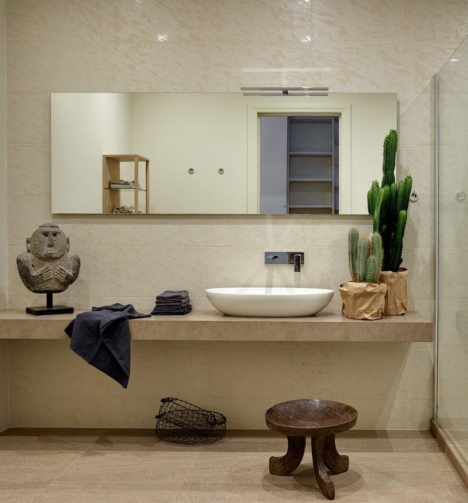 Фотография: Ванная в стиле Современный, Квартира, Проект недели, Москва, Ариана Ахмад, Кирпичный дом, 2 комнаты, Более 90 метров, #эксклюзивныепроекты – фото на INMYROOM