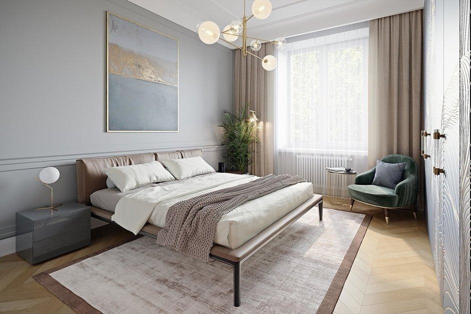 Фотография: Спальня в стиле Современный, Квартира, Проект недели, Москва, Сталинка, 3 комнаты, 60-90 метров, VO Concept – фото на INMYROOM