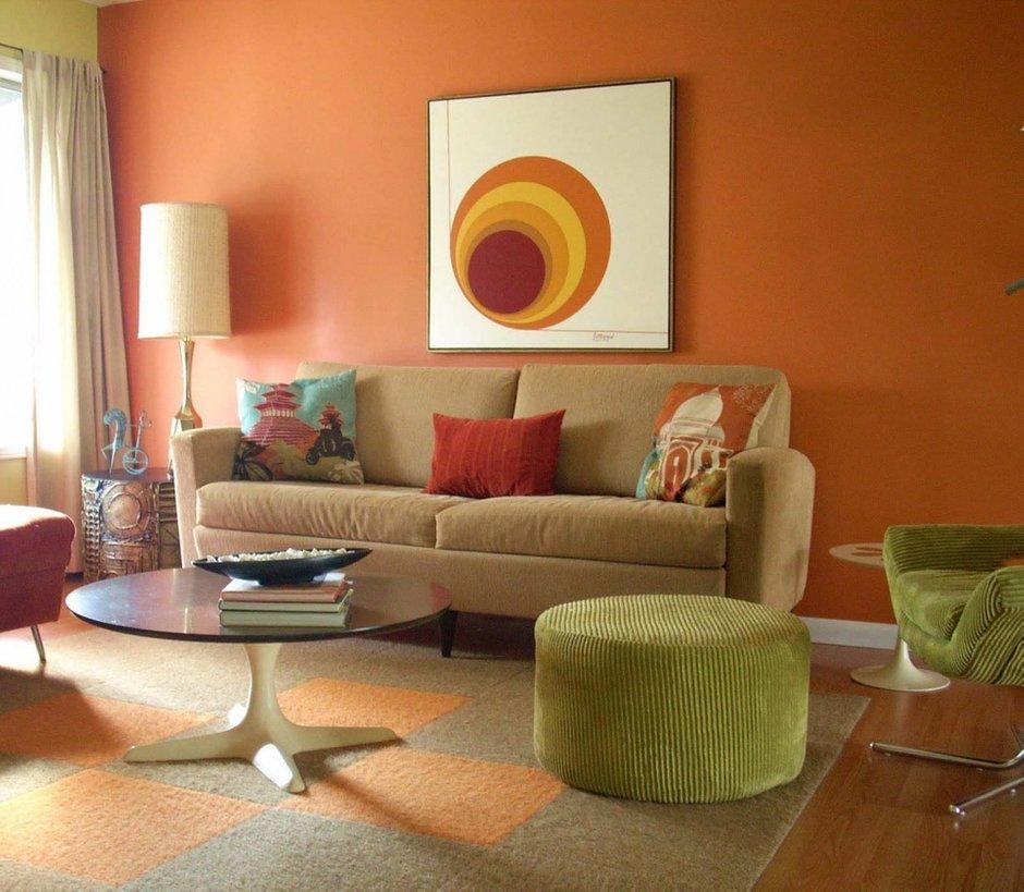 Фотография: Гостиная в стиле , Декор интерьера, Дизайн интерьера, Цвет в интерьере, Dulux, Оранжевый, ColourFutures – фото на InMyRoom.ru