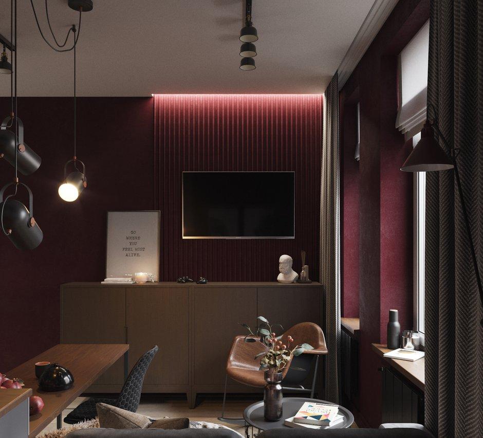 Фотография: Гостиная в стиле Современный, Квартира, Проект недели, Москва, Юлия Чернова, 1 комната, до 40 метров – фото на INMYROOM