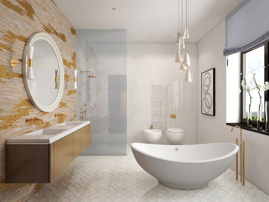 Фотография: Ванная в стиле Современный, Эклектика, Дом, Минимализм, Проект недели – фото на INMYROOM