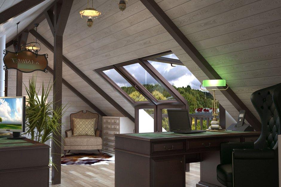 Фотография: Офис в стиле Эклектика, Дом, Мансарда – фото на INMYROOM