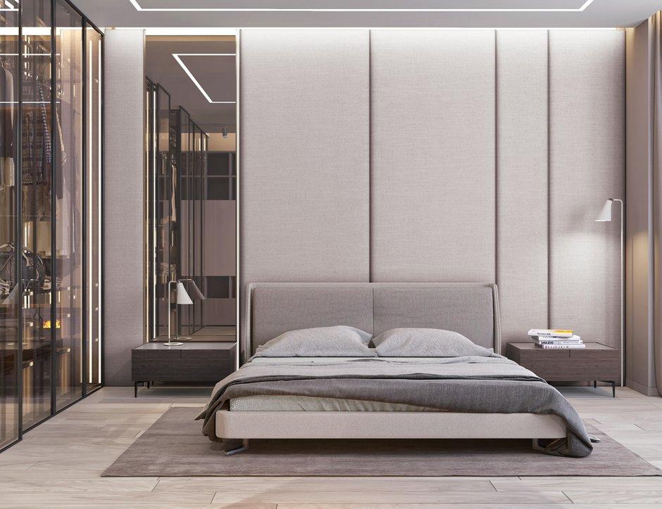 Фотография: Спальня в стиле Современный, Квартира, Минимализм, Проект недели, Москва, Эко, Монолитный дом, Quadro room, 3 комнаты, Более 90 метров – фото на INMYROOM