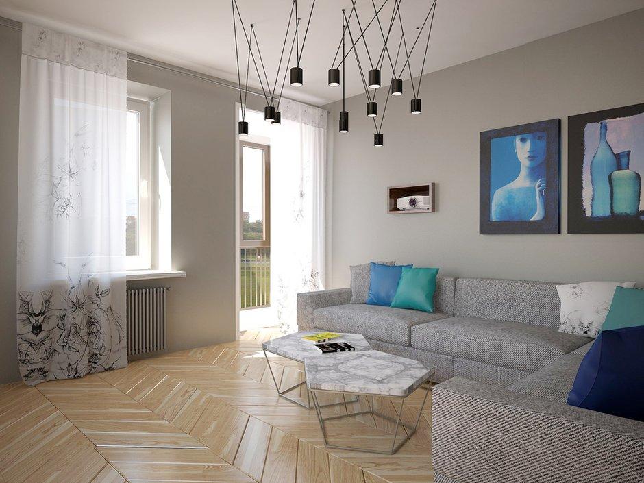 Фотография: Гостиная в стиле Современный, Квартира, Дома и квартиры, Проект недели, Пентхаус – фото на INMYROOM